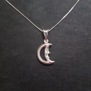 Anti Tarnished 925 Sterling Silver Mr. Moon Charm